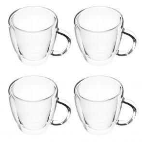Kopp i dubbelväggigt glas 4 st