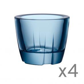Kosta Boda ljuslykta Water Blue 4-pack