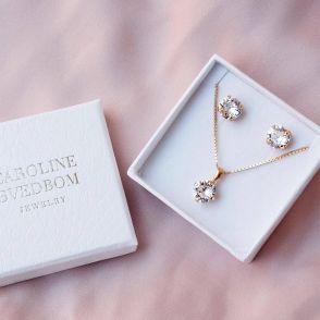Caroline Svedbom smyckesset crystal gold